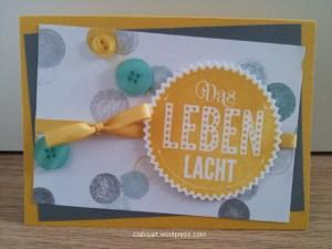 Karte »Das Leben lacht« by clabi's ART