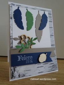 Herbstkarte - Feiere den Tag by Clabi's ART